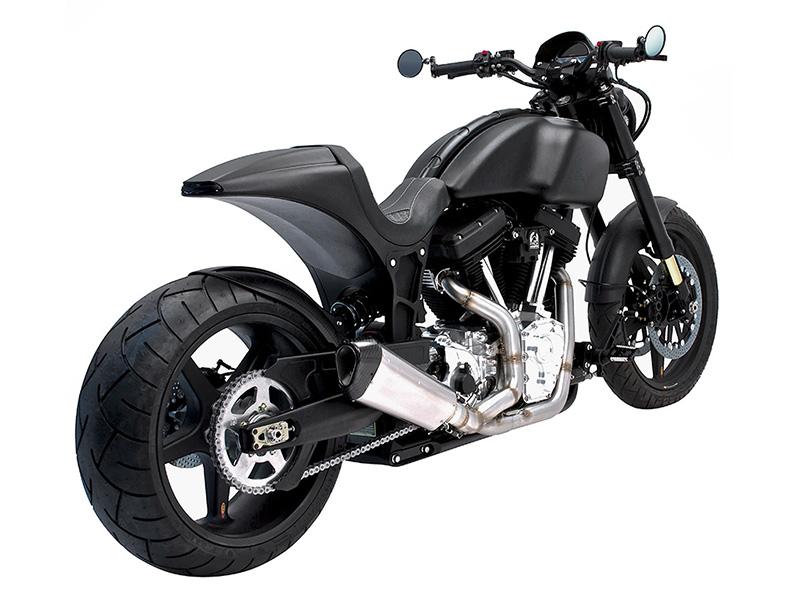 Arch Motorcycle KRGT-1 Matt Black Tre Quarti Posteriore