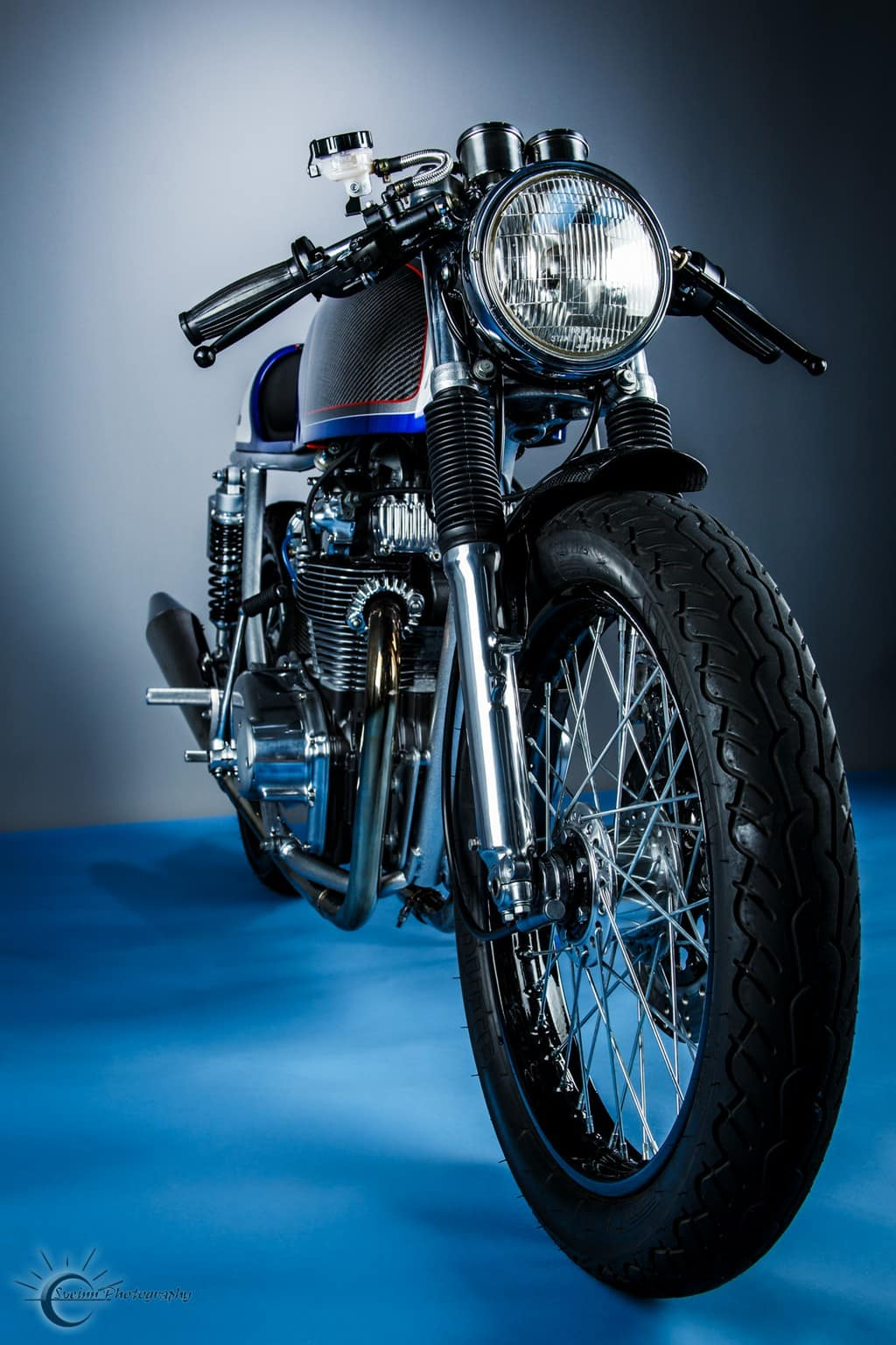Honda CB500T 1975 Abigail by Hot Sake Cycles Tre Quarti
