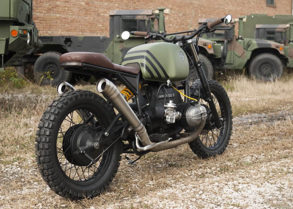 BMW R100 KOMMANDANT Powder Monkees Tre Quarti Posteriore