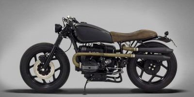 BMW R80 Indira Ton-Up Garage Lato Sinistro
